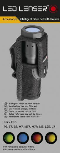 LED LENSER® Intelligent Farb-Filter Set + Holster