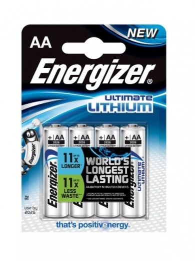 4 Stück ENERGIZER Ultimate Lithium Batterien (L91, AA)