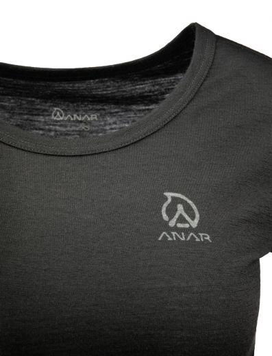 ANAR Damen Merinowolle-T-Shirt GALDA schwarz