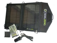 GOAL ZERO Solarpanel/Akku Guide 10plus Adventure Kit (f. Smartphone, Tablet, 12V, USB uvm.)